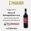 WineEnthusiast: Rosso di Montepulciano 2014